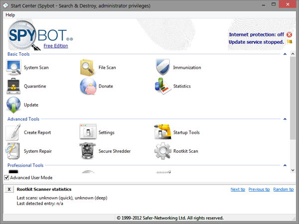 Download Spybot – Search & Destroy® portable