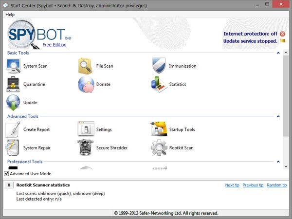 Download Spybot – Search & Destroy® portable