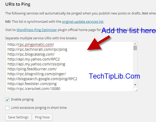 WordPress Ping Optimizer - How to ping your article automatically?