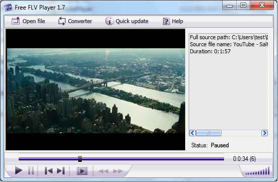 Free FLV Player - Easy to play FLV videos on Windows