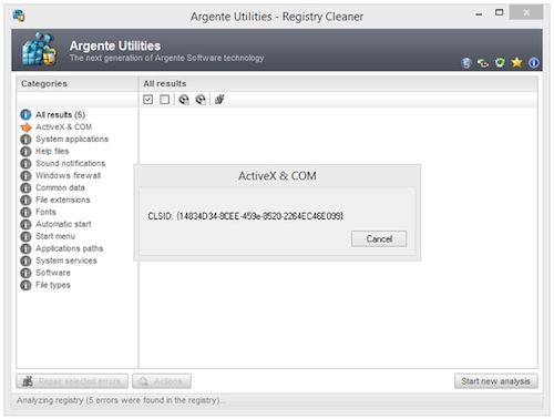 Free Argente Registry Cleaner-free registry Cleaner