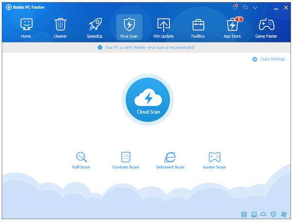 free registry Cleaner-Baidu PC Faster