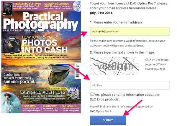Giveaway, DxO Optics Pro 7, register DxO Optics Pro 7