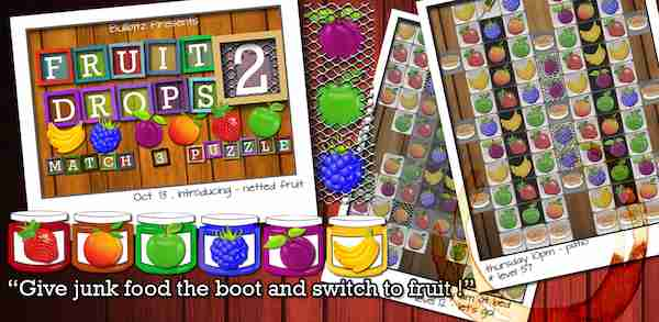 Fruit Drops Part II - Match Three Puzzle 1