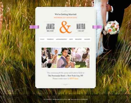 Wedding WordPress Theme No.1- Just Married