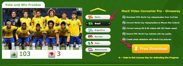 Giveaway of MacX Video Converter Pro for World Cup 2014