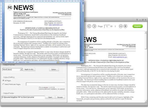 get free Lighten PDF to Word Converter 3.2.0