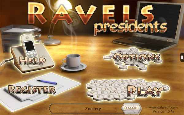 Get Words game for Android: Ravels - Presidents