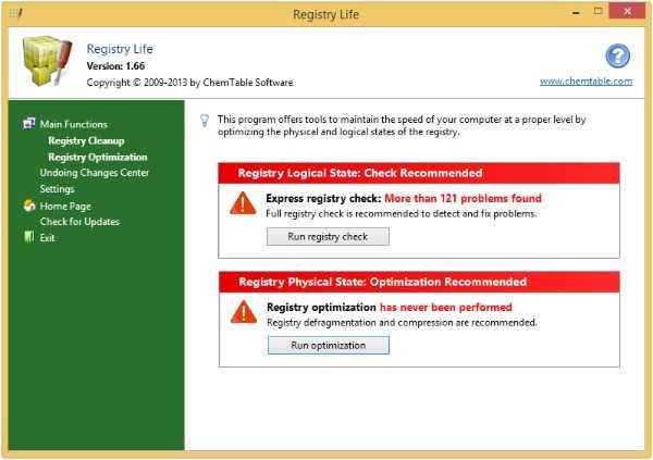 Registry Life-free registry Cleaner