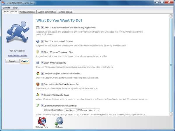TweakNow RegCleaner - free registry Cleaner