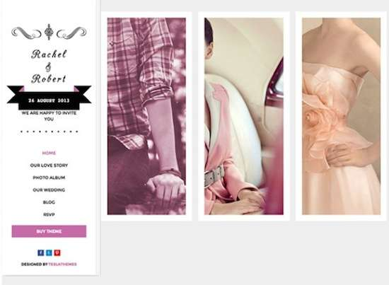 Wedding WordPress Theme No.2-Wedding Day