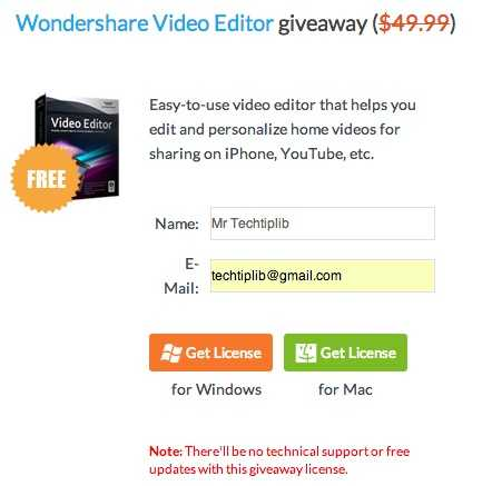 Giveaway of Wondershare Video Editor ($49.99)