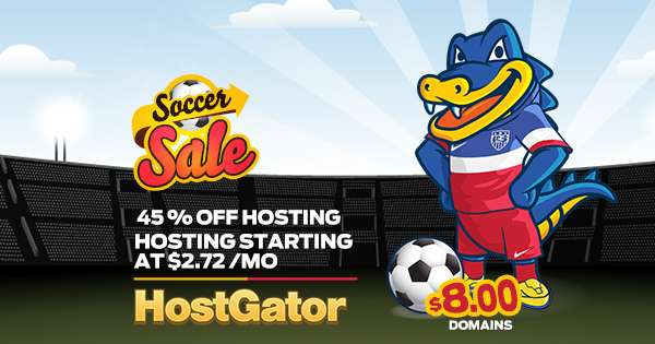 HostGator - Sale 45% For World Cup