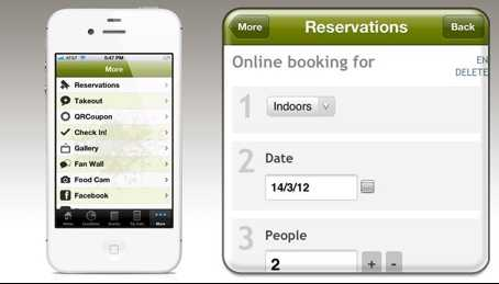 Mobile reservation apps
