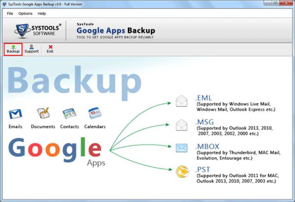 Backup Tool google apps