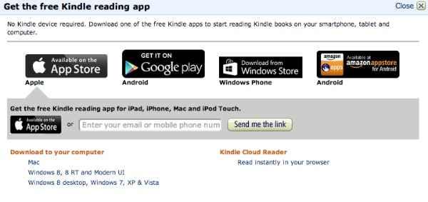 Kindle Unlimited app
