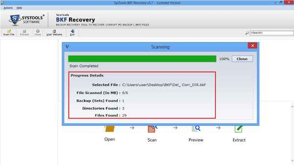 Recovery Software complete scan