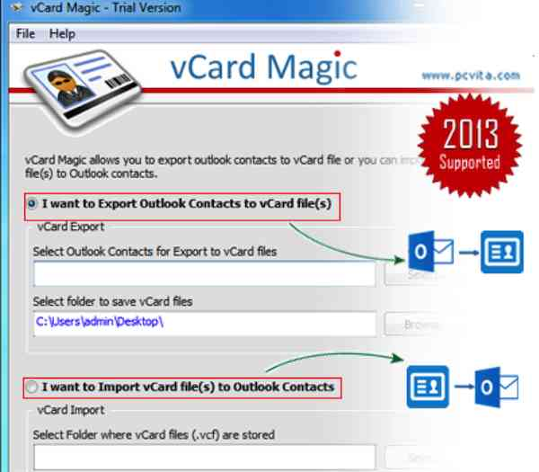 vCard Import Export software - vCard magic