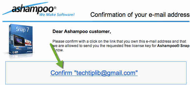 Ashampoo Snap 7 confirm
