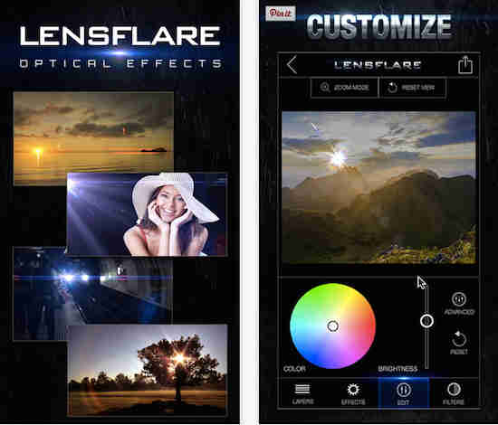 apps for iOS-LensFlare