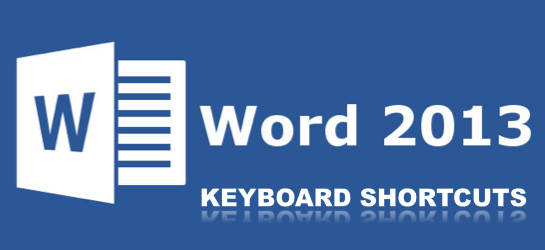 Word Word 2013 Keyboard Shortcuts