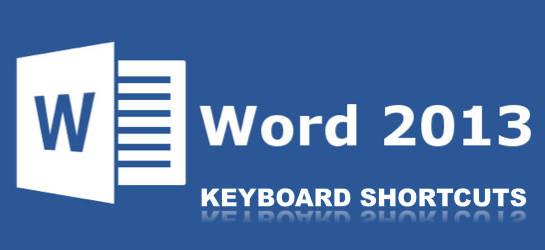 Word Word 2013 Keyboard Shortcuts
