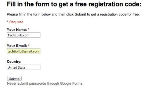 AthTek Registry Cleaner registration