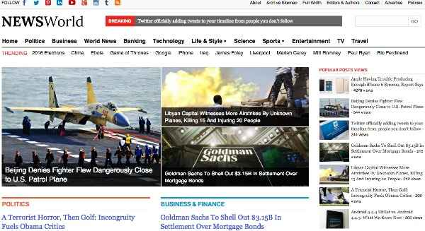 NewsWorld WordPress Theme