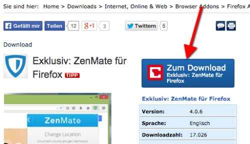 Zenmate For Firefox download