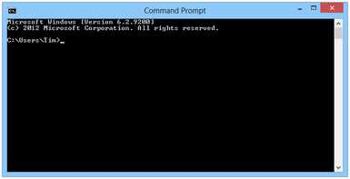 Command Prompt in Windows 8