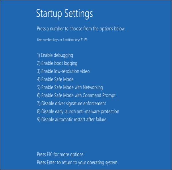 windows 8 safe mode options