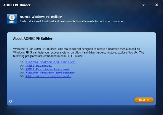 PE Builder-Create Bootable