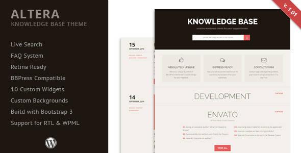 Knowledge Base WordPress Theme - Altera