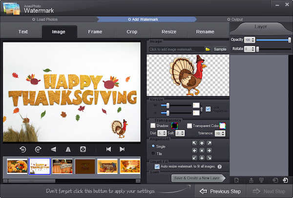 ThanksGiving 2014: Free license Key of Aoao Photo Watermark & Video ...