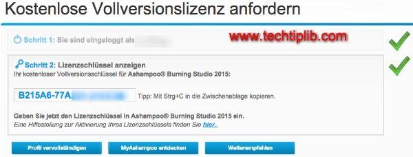 Ashampoo Burning Studio 2015 key