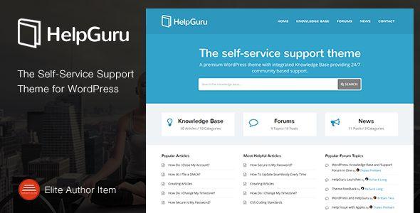 Knowledge Base WordPress Theme - HelpGuru