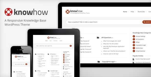 Knowledge Base WordPress Theme - KnowHow
