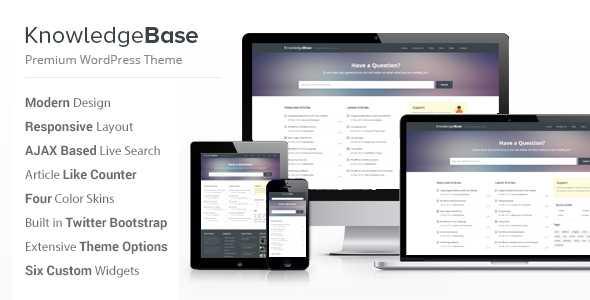 Knowledge Base WordPress Theme - Knowledge Base