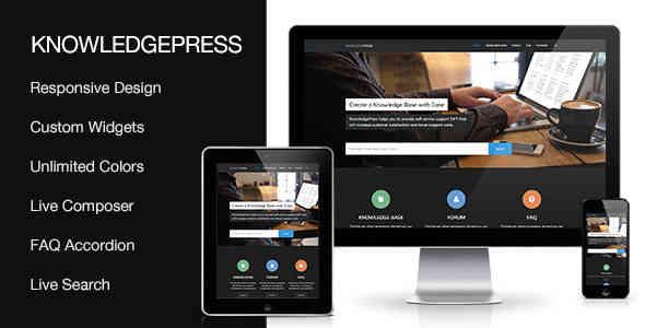 Knowledge Base WordPress Theme - Knowledgepress