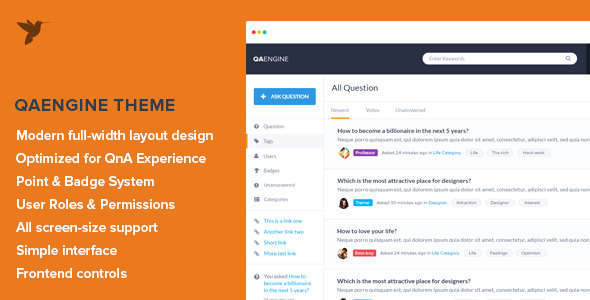 Knowledge Base WordPress Theme - QAEngine