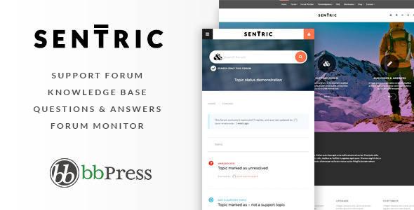 Knowledge Base WordPress Theme - Sentric