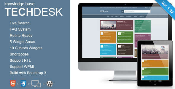 Knowledge Base WordPress Theme - TechDesk