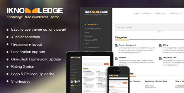 Knowledge Base WordPress Theme - iKnowledge