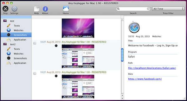 AnyKeylogger for Mac