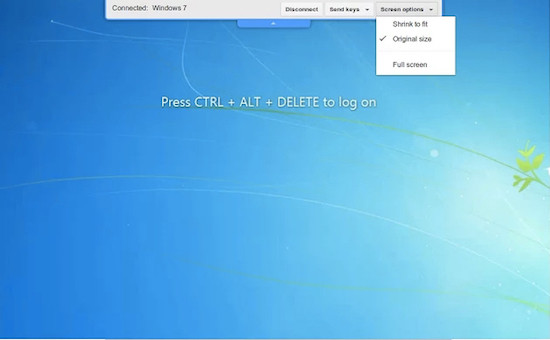 Remote desktop through Chrome