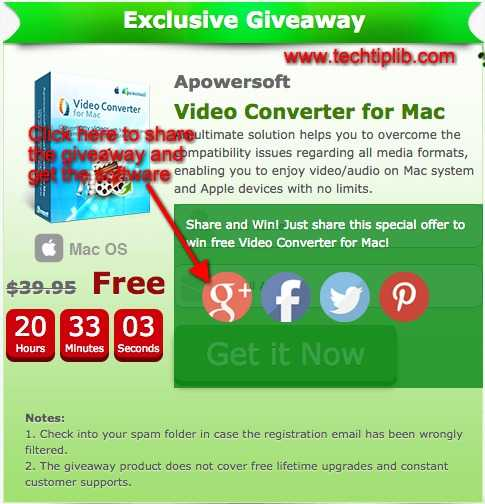 Video Converter for Mac giveaway