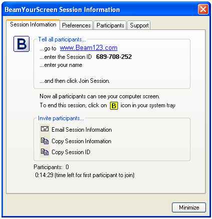beam your screen- Free Remote Access Tools
