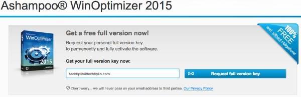 Ashampoo WinOptimizer 2015 giveaway