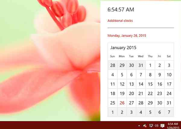 Calendar in Windows 10