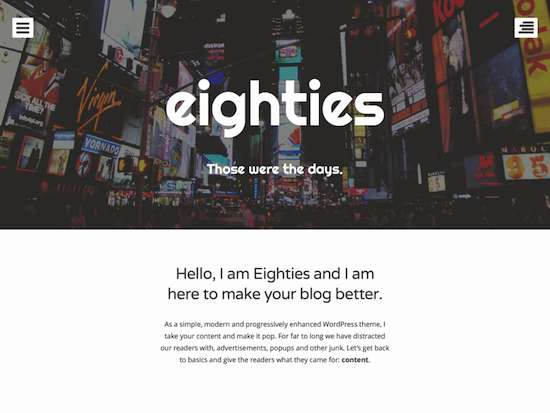 Eighties-free wordpress theme 2014
